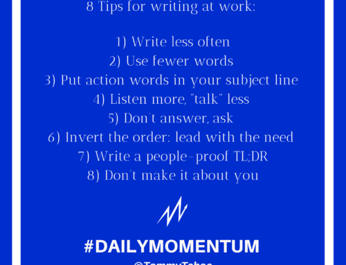 Tuesday Tip: Writing At Work