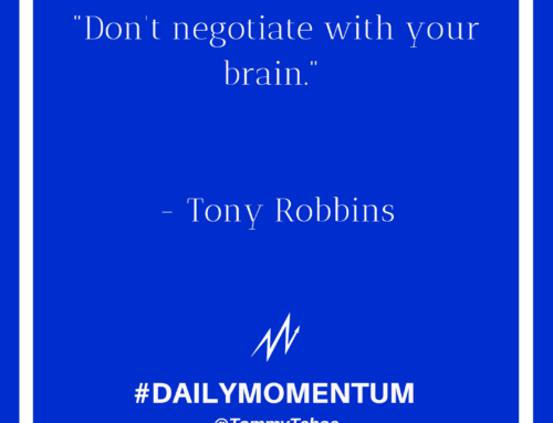 Don't Negotiate With Your Brain